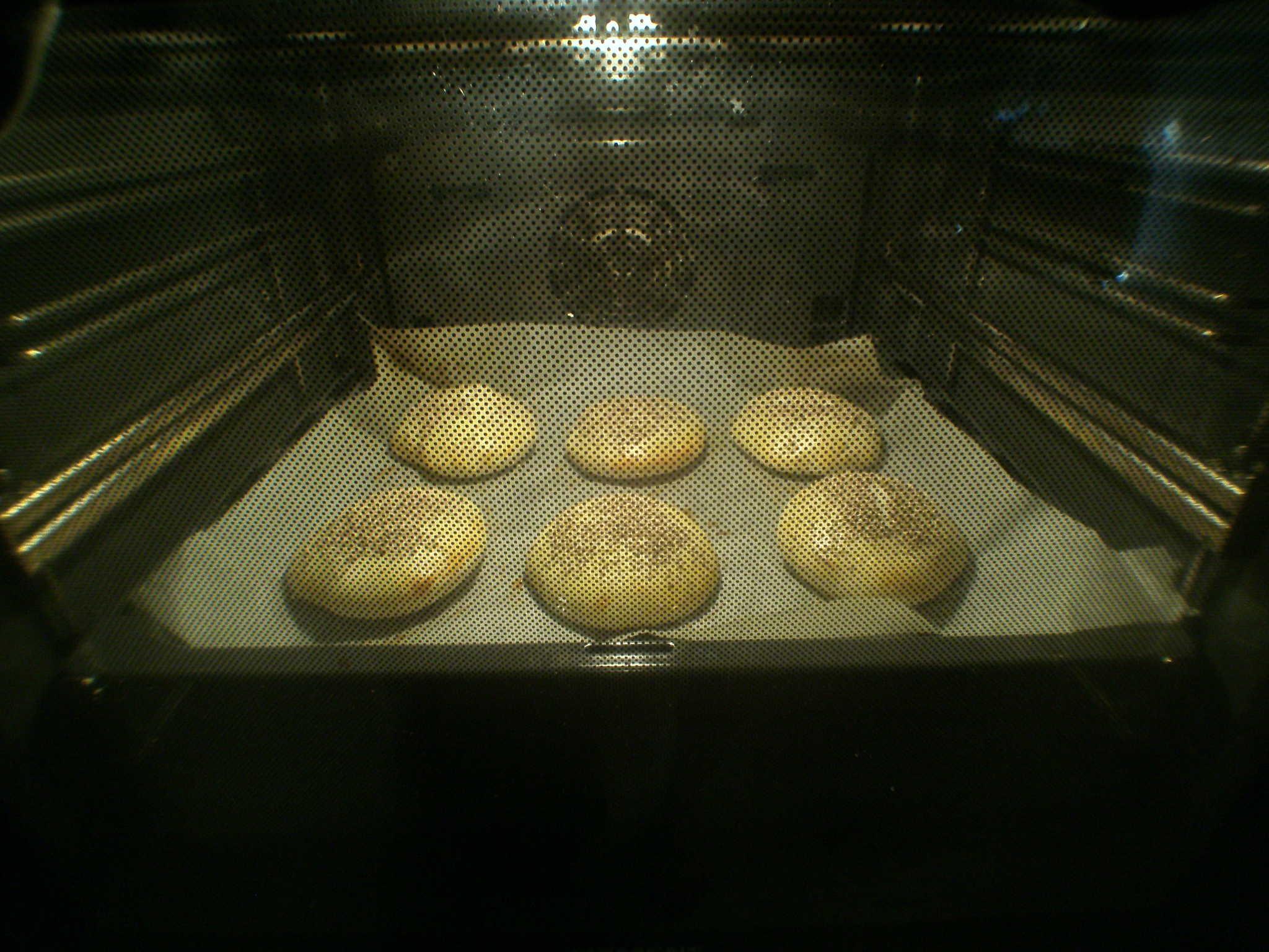 Buns für Burger gebacken